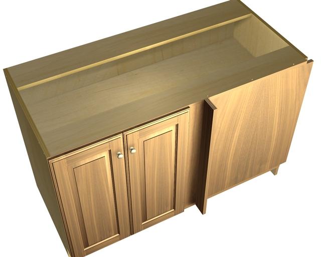 2 door blind corner base cabinet hinged right