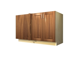 2 door blind corner base cabinet (LEFT side hinged with integrated filler)