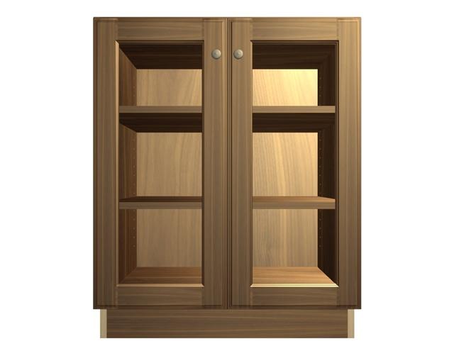 glass door base cabinet