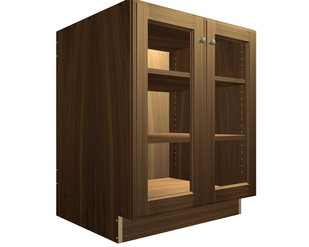 2 glass door base cabinet - Cabinet With Glass Doors