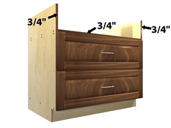2 drawer rangetop base cabinet