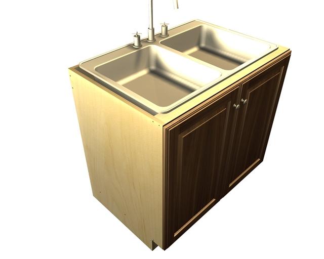 2 door SINK base cabinet (*sink not included)