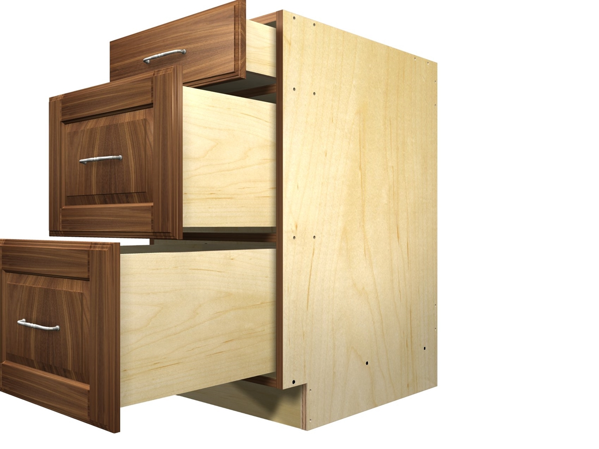 Picture of: 3 Drawer Base Cabinet