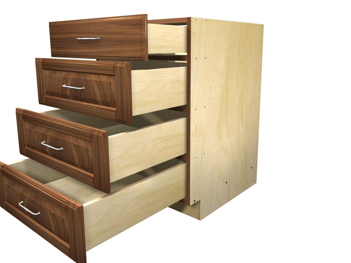 4 Drawer Base Cabinet