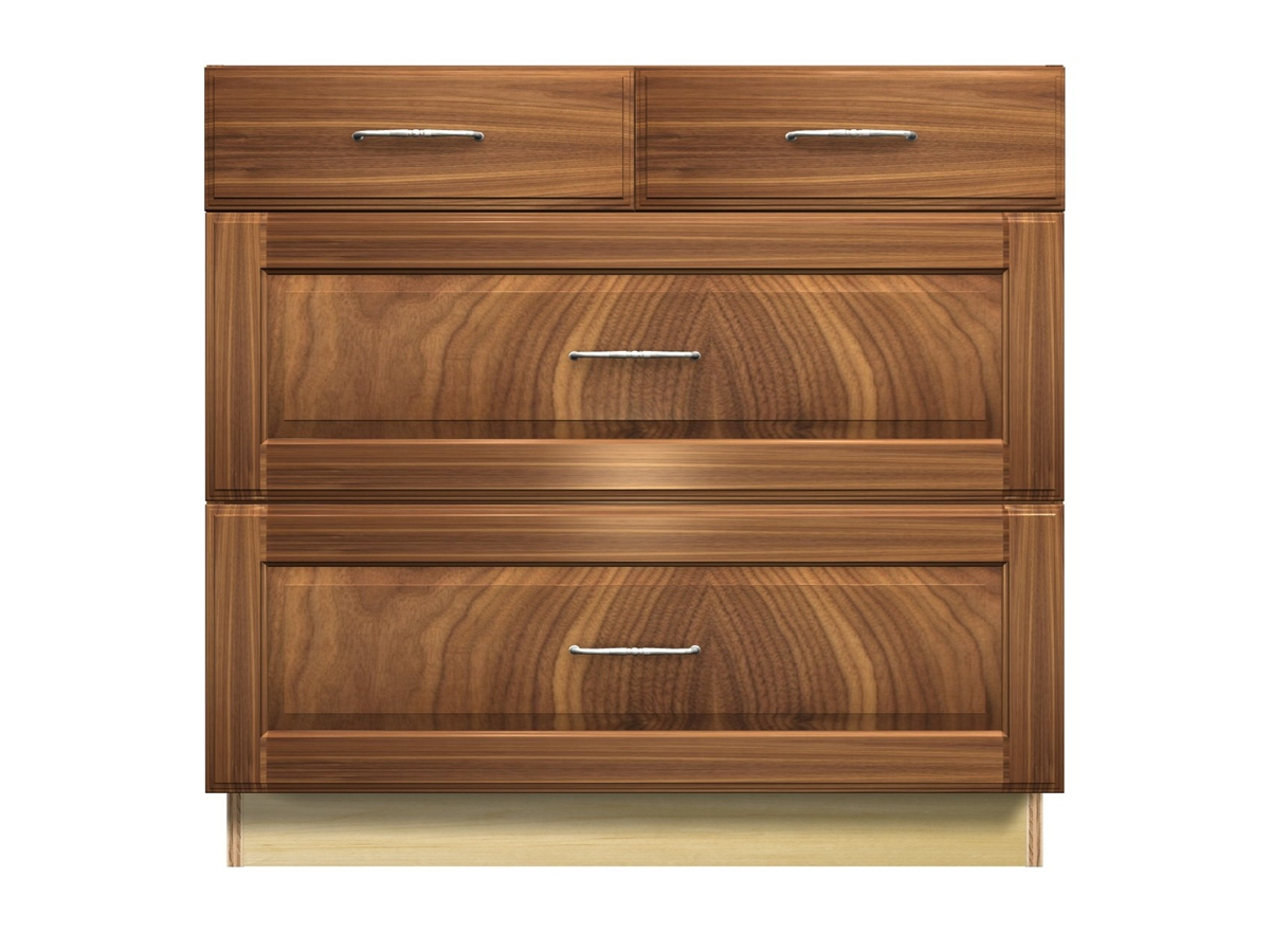 drawer base cabinet with split top drawer