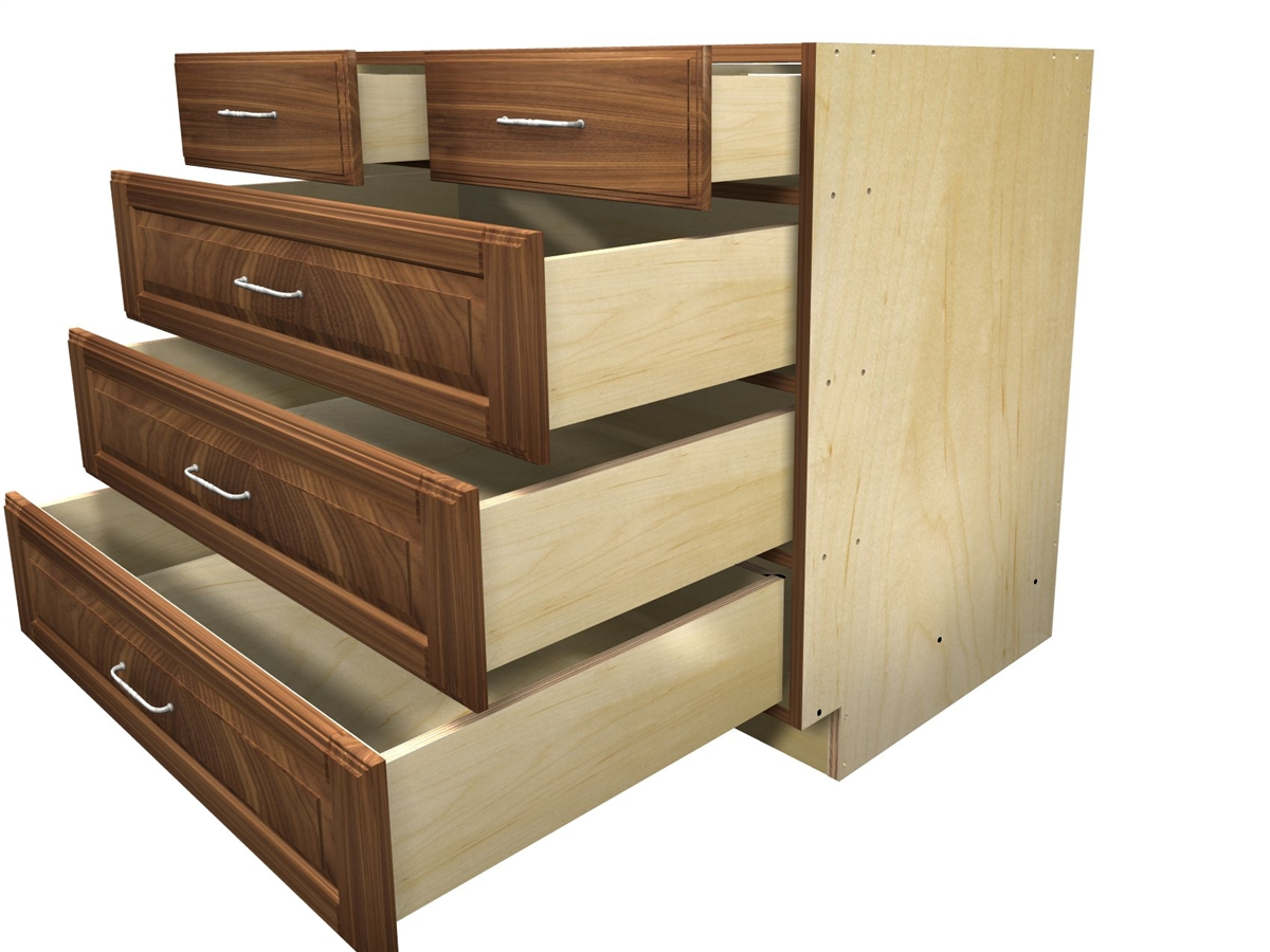 Bon 5 Drawer With Split Top Base Cabinet