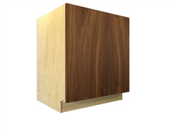 Blank panel block cabinet with screw-on face panel