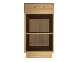 0 door 1 drawer exposed interior base cabinet