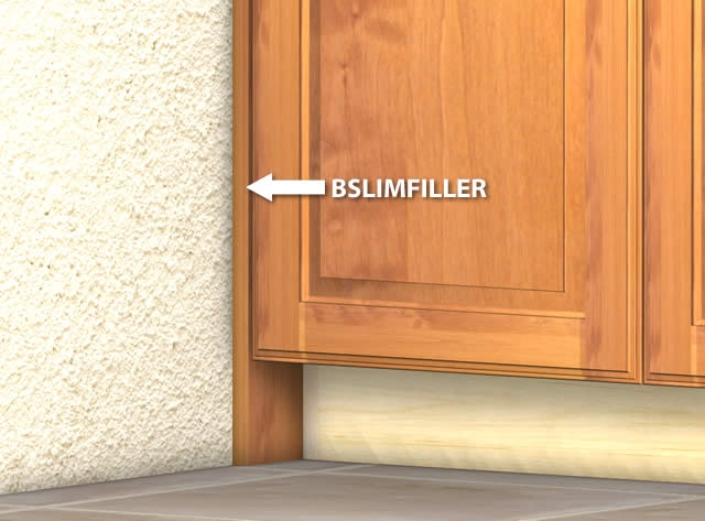 slim base cabinet filler