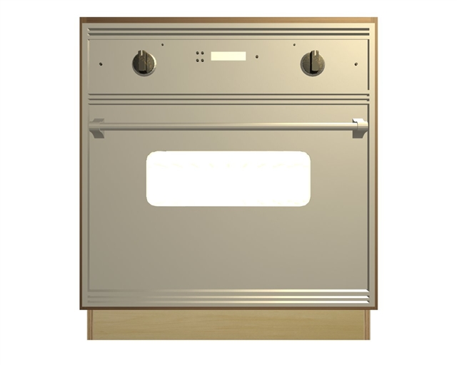 0 Door Wall Oven And Cooktop Base Cabinet With Wide Top Rail