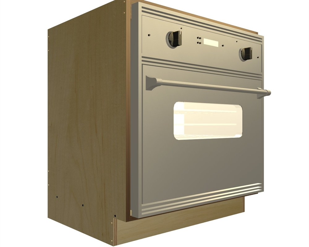 Base oven cabinets - 0 Door Wall Oven And Cooktop Base Cabinet