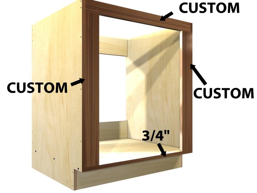 0 Door Wall Oven And Cooktop Base Cabinet Adjule Opening Width