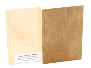 Maple wood sample