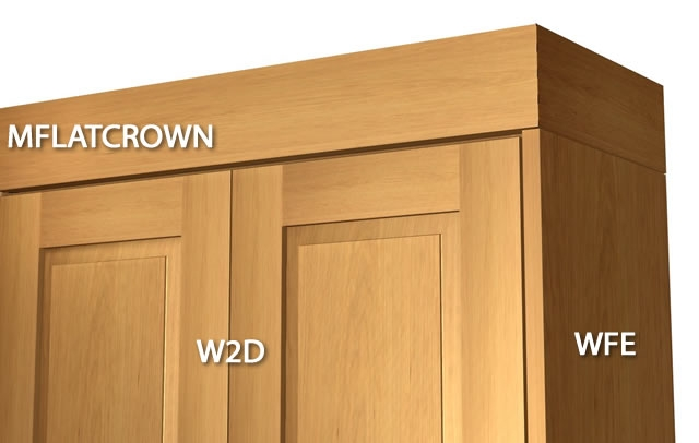 types of crown molding for kitchen cabinets 1 flat crown molding with backer 27408