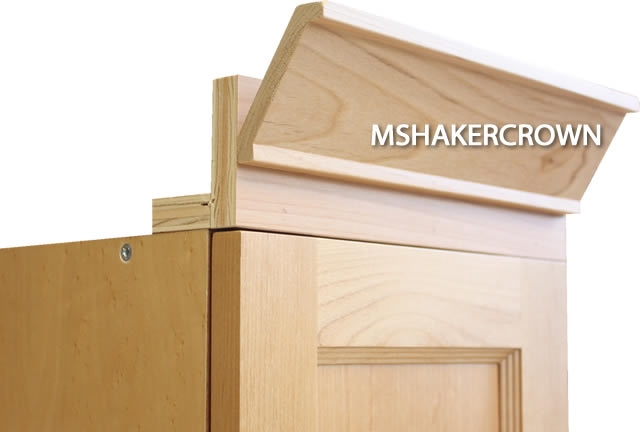 Shaker 2 Piece Crown Molding With Backer