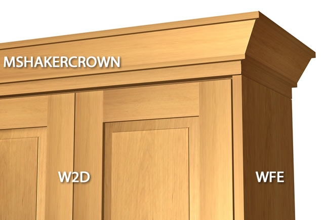 2 piece shaker crown molding with backer
