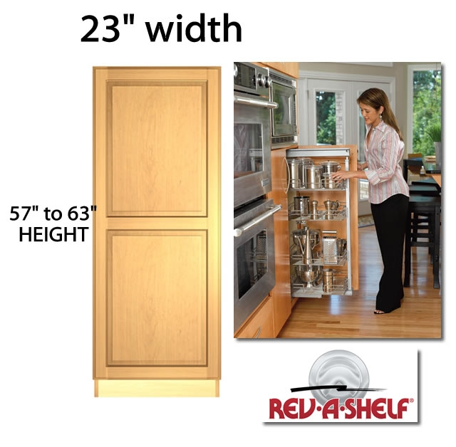 Pantry Pullout Cabinet 23 Wide 5750 Series 4 Baskets Trays Shelves