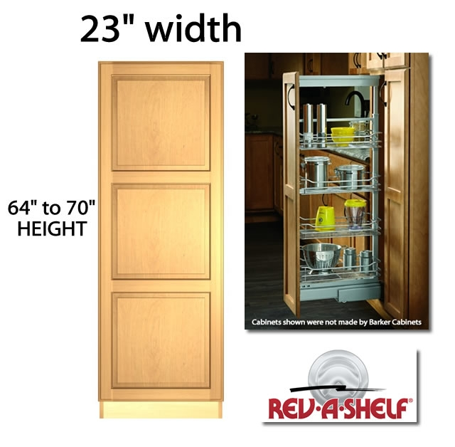 Pantry Pullout Cabinet 23 Wide 5758 Series 5 Baskets Trays Shelves