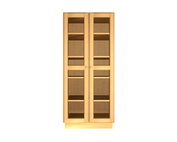 2 GLASS door pantry cabinet