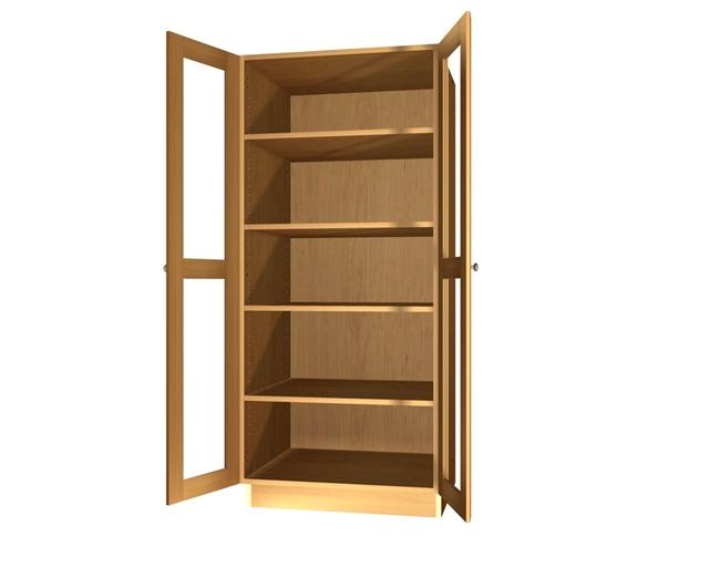 2 Glass Door Pantry Cabinet