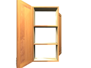 1 door 1 door wall see-through cabinet