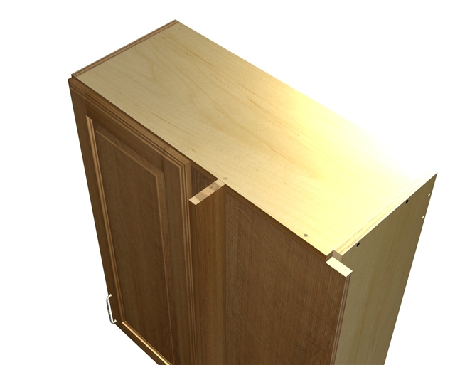 Genial 1 Door Blind Corner Wall Cabinet (HINGED ...