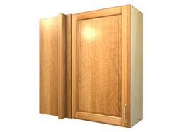1 door blind corner wall cabinet (LEFT side hinged with integrated filler)