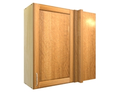 1 door blind corner wall cabinet (RIGHT side hinged with integrated filler)