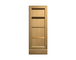 1 GLASS door and 1 drawer wall cabinet
