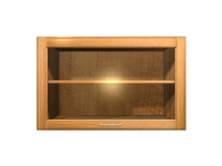 1 door GLASS flip up cabinet