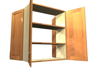 2 door 2 door wall see-through cabinet