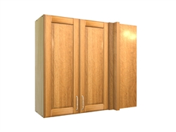 2 door blind corner wall cabinet (RIGHT side hinged with integrated filler)