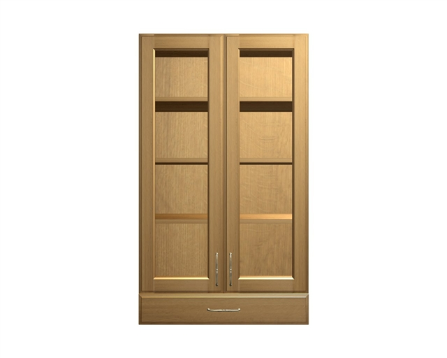 2 Glass Door And 1 Drawer Wall Cabinet