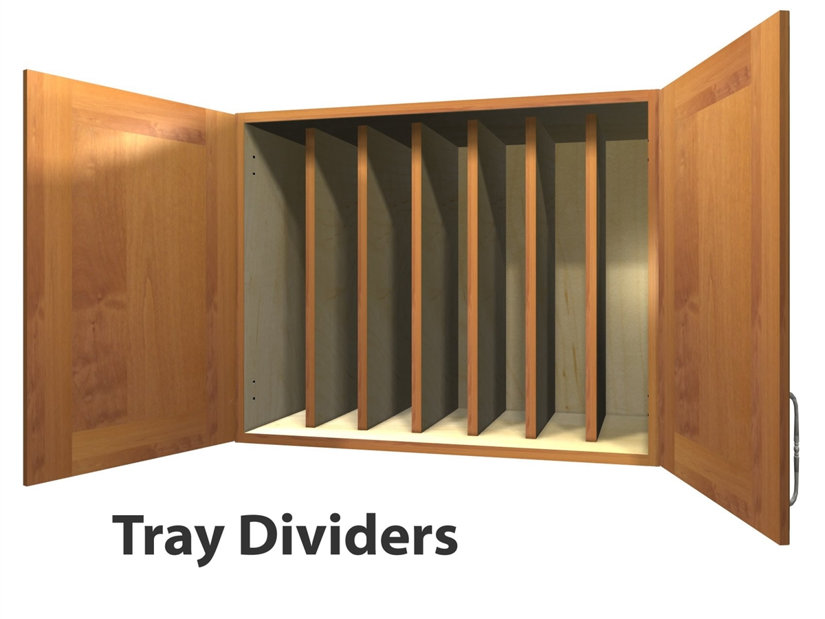 2 door wall cabinet with TRAY DIVIDERS  sc 1 st  Barker Cabinets & door wall cabinet with TRAY DIVIDERS