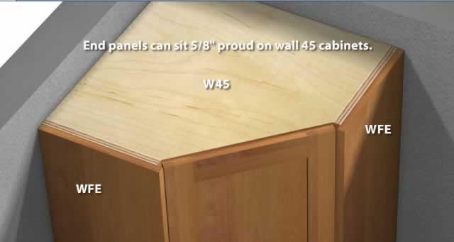 1 Door 45 Degree Corner Wall Cabinet
