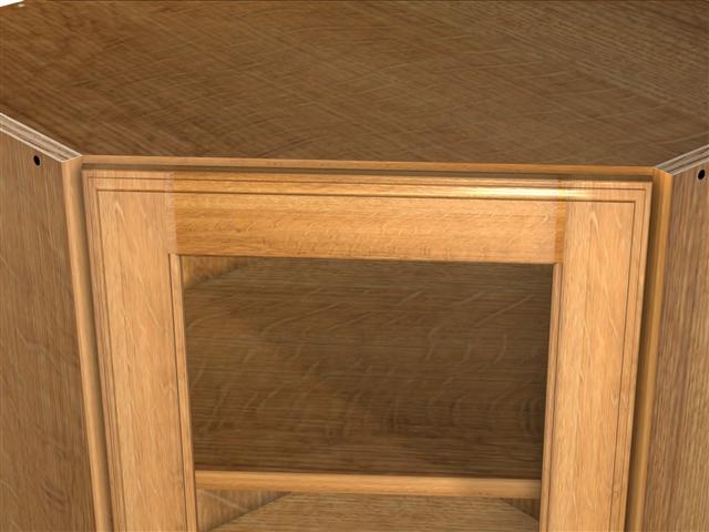 1 Glass Door 45 Degree Wall Cabinet