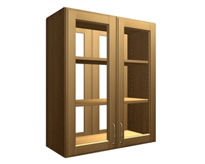 4 glass door wall cabinet see through