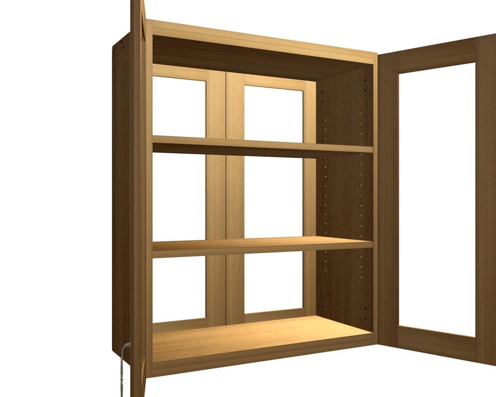 4 Glass Door Wall Cabinet ...