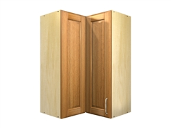 2 door 90 degree corner wall cabinet