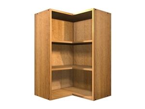 90 degree exposed interior open cabinet