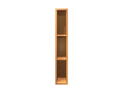 0 door SLIM exposed interior wall cabinet (interior will the match wood type and finish chosen for the face of the cabinet)