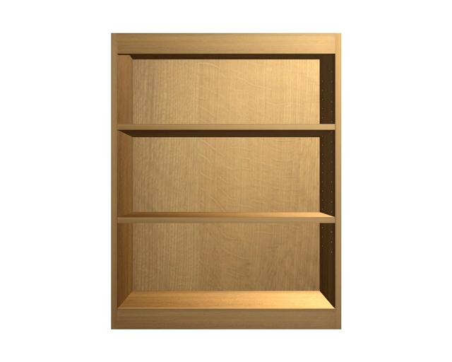 wall cabinet with wide rails