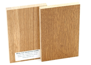 White oak quarter sawn wood sample