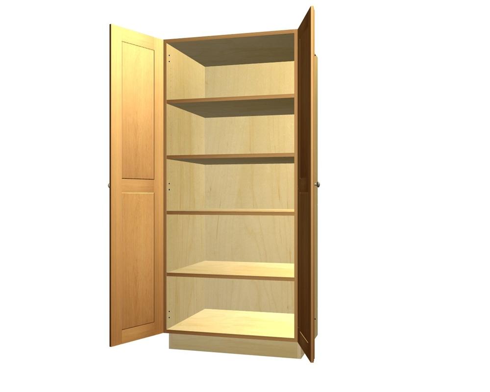 door tall pantry cabinet