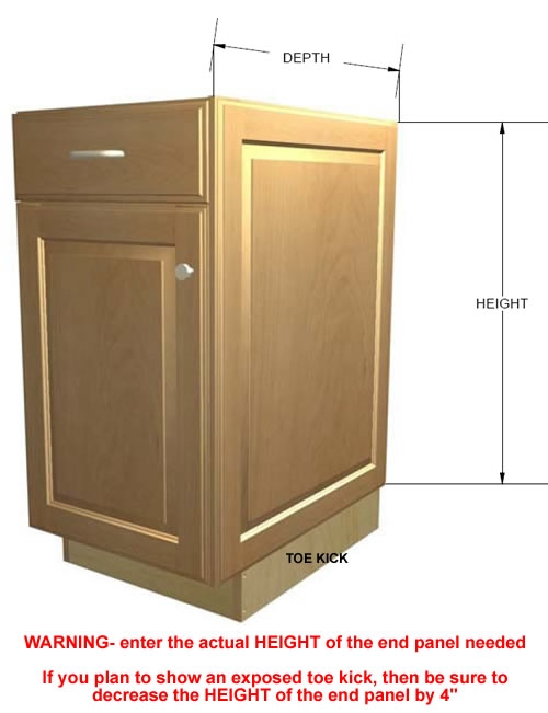 End Panel Lied Door Base Cabinets