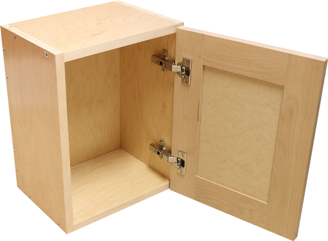 Sample Cabinet With Shaker Door Paint Grade Frame Alder