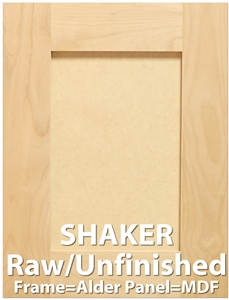 Shaker Paint Grade Sample Cabinet Door