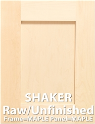 Shaker MAPLE Sample Cabinet Door