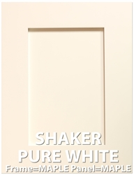 PURE WHITE Shaker MAPLE Sample Cabinet Door