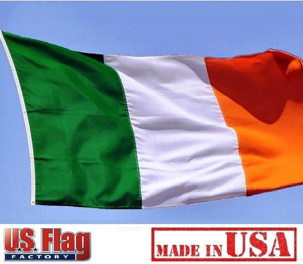 d2d7d5999f5a 2 x3  Ireland Flag (Sewn Stripes) Outdoor SolarMax Nylon - Made in USA